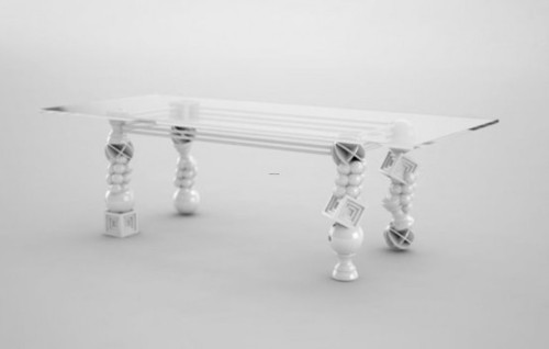 Modern Dining Table Designs, Art Deco Dining Table With Unusual Legs