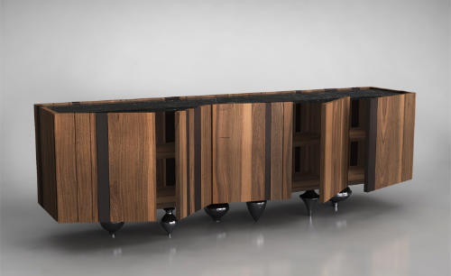Il Pezzo Mancante, Il Pezzo 1 Sideboard by Il Pezzo Mancante Sits on Brass All Day Long