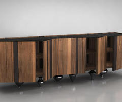 Il Pezzo 1 Sideboard by Il Pezzo Mancante Sits on Brass All Day Long