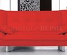 Red Faux Leather Contemporary Sofa Bed at Furniture Depot