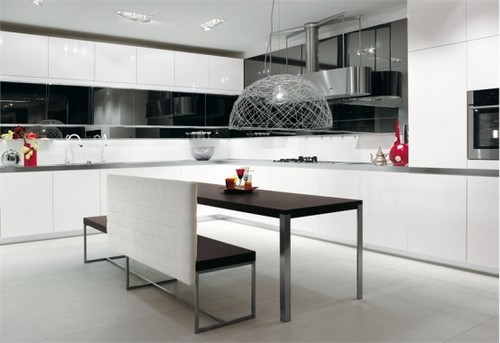 Black White Kitchen Tile, The modern of black and white kitchen design ideas