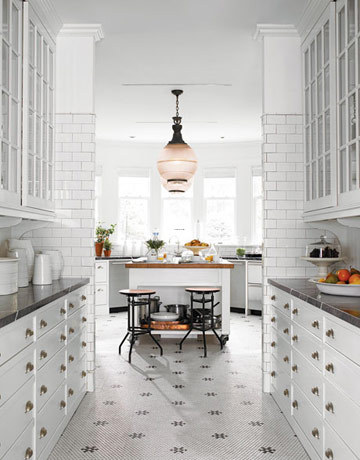 Black White Kitchen Tile, Connecticut Kitchen