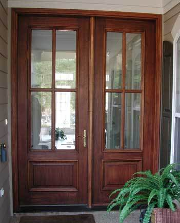 French entry doors mahogany double door units buy online for Front entry french doors