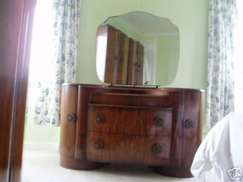 Antique Dressing Table, SalvoWEB : Vintage Antique Dressing Table and Mirror