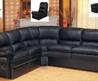 Black Leather Sectional couch Classified Ad