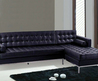 Modern Leather Furniture : Modern Sectional Sofa : Black Leather Sectional : Modern Furniture : Barcelona Style Sectional