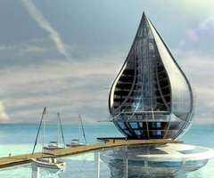 Futuristic Project The Water Building by Orlando de Urrutia 
