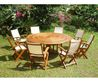 Amelia 1.8m Hardwood Garden Furniture Table Set
