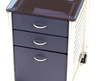 Rolling File Cabinet w 2 Storage Drawers 
