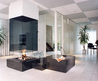 Glass Fireplace by Bloch