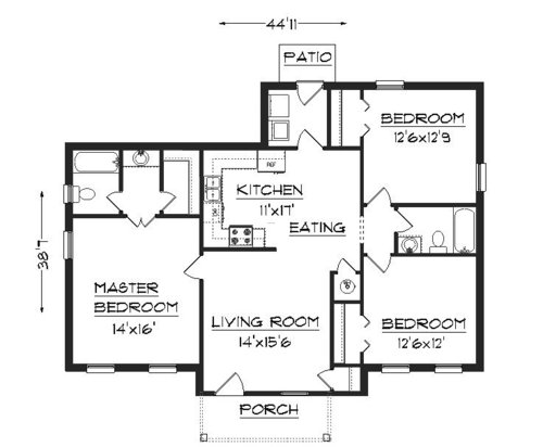 House plans home plans plans residential plans design for Feng shui for building new house