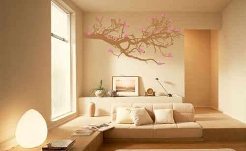 Wall designs with paint for living room : Wall painting designs living room decorating a