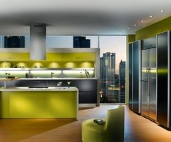 Luxury Kitchen Design for Villa and Home with Romantic Lighting Fixtures