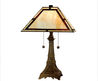 Dale Tiffany Eiffel Tower Table Lamp in Antique Brass