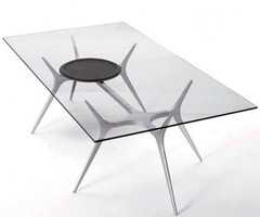 Glass Top Dining Table With Spider Legs
