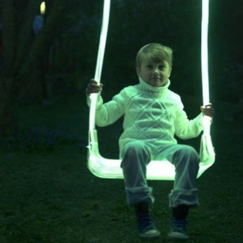 Contemporary Garden Furniture, Luminous Outdoor LED Swing