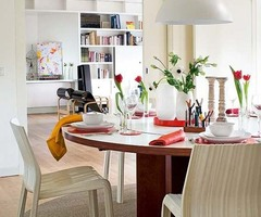 Modern White Apartment Decorating Ideas in Madrid