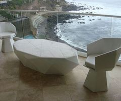Origamex Beautiful Coffee Table and Chair for Your Patio by Alberto Vieyra modern patio coffee table and chair design  Home Design Inspiration