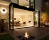 Modern outdoor fireplace design, Russian hill home « Russian Hill Home, Contemporary house design by JMA – Home architecture
