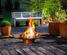 modern outdoor fireplace design