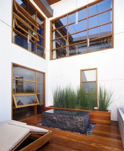 Indoor Garden Design Ideas, Trend natural indoor garden design ideas in wooden house in malibu » Home Interior Ideas, Home Decorating, Home Furniture, Home Architecture, Room Design Ideas