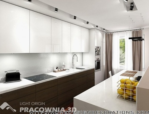 White Kitchen Ideas Small Space Contemporary Modern Apartment Design
