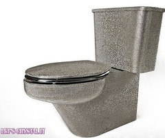 $25,000 Swarovski Crystals Luxury Toilet