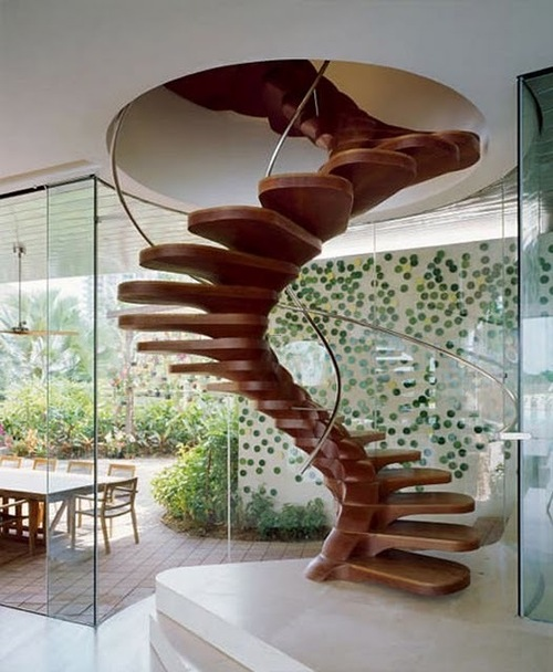 Modern Stair Railing Design, The Best 10 Of Modern Spiral Staircase Designs 