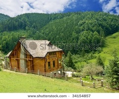 Small Wooden House In A Mountains Stock Photo 34154857 : Shutterstock