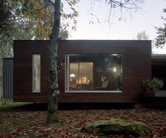 Small Wooden House with Natural Harmony Concept