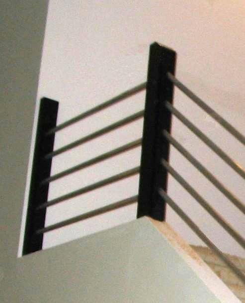 how to build a modern stair rail