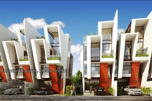 3 storey modern townhouse near fort and makati design for Three storey townhouse design