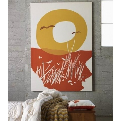 Affordable Wall Art Modern Affordable Sunset Wall Art Print On Fabric