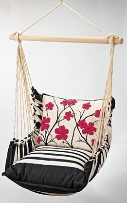 Outdoors Furniture, The Red Flowers Indoor/Outdoor Swing Chair For The Patio
