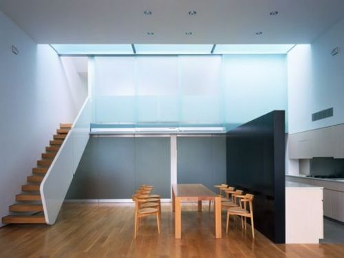 Loft With Glass Design, Minimalist Interior Apartment Ideas, Open Loft by Marble Fairbanks open loft apartment with privot glass panels closed – Home Design Inspiration