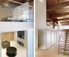 Modern glass and wooden loft design 