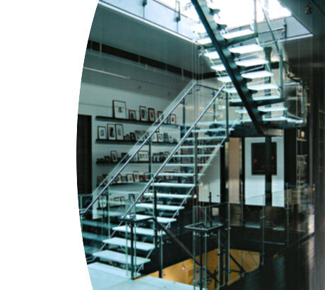 Loft With Glass Design, Custom Glass Stairs – Tribeca Loft « Jaroff Design – Mison Concepts: Custom Architectural Metal
