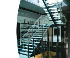 Custom Glass Stairs – Tribeca Loft « Jaroff Design – Mison Concepts: Custom Architectural Metal