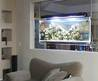 Huge Elliptical Suspended Space Aquarium for modern Home Interior