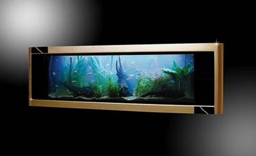 Idee Di Decorazione Acquario, The most expensive aquarium with Gold Design Decorating Ideas