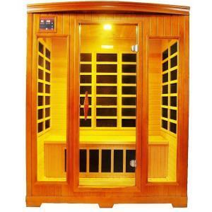 Bathroom Spa Collection, Lifesmart 3 Person Carbon Tech Natural Hardwood Sauna For Homes