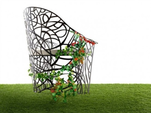 Contemporary Garden Furniture, Exquisite Garden Furniture To Be Overrun By Plants