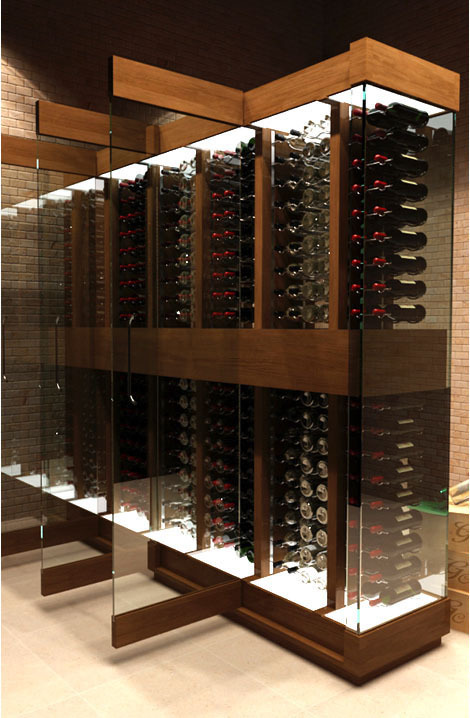 wine rack cellar design