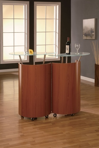 Buy Online Elegant Cherry Modern Home Bar 777 By Global Furniture At City Furniture Nj Design