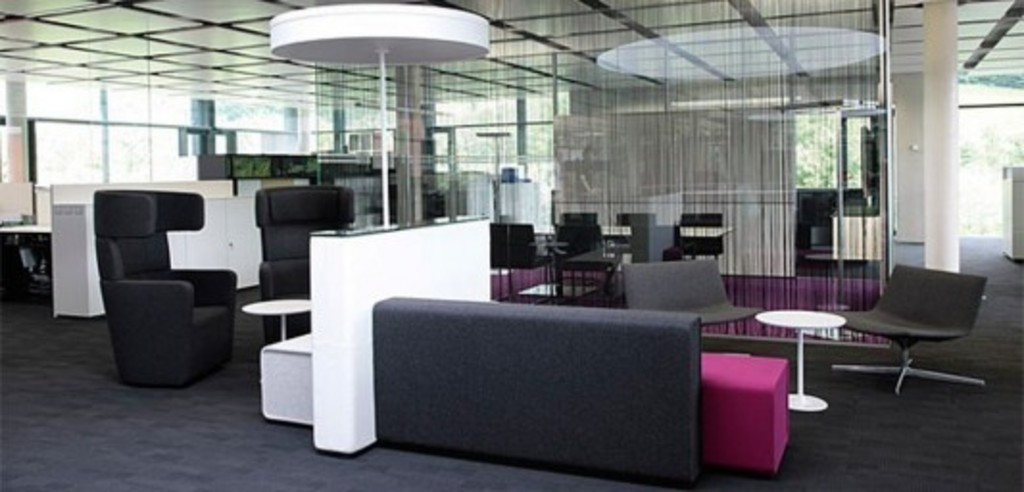 modern and futuristic office furniture design parcs by