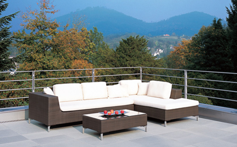 Outdoor Wicker Patio Chairs, Modern Rattan Patio Furniture Set 