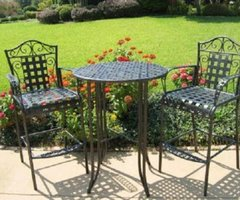 Modern Furniture Blog Review: Outdoor Patio Furniture Bar Mandalay Iron Bistro Set
