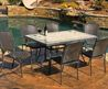 Tuscan Lorne 7 Piece Tile and Resin Wicker Outdoor Patio Set