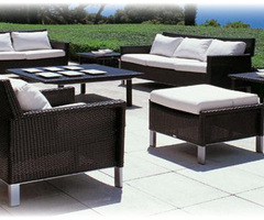 Patio Design with Outdoor Patio Furniture including Teak Wood, Wicker, Aluminum and more outdoor furniture.