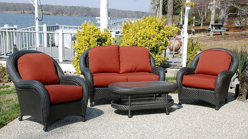 Outdoor Wicker Patio Chairs, Cayman Weatherproof Resin Wicker Patio Furniture Set